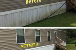 Clean Mobile Home Skirting - Before And After