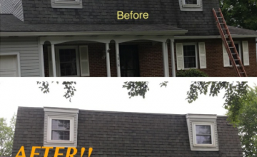 Gambril Roof Cleaning - Before And After