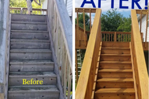 Exterior Stair Cleaning Before And After