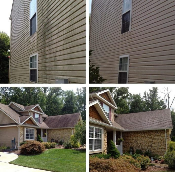 Exterior Siding Cleaning and Roof Cleaning